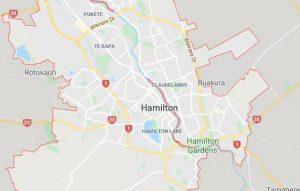 Hamilton NZ Map